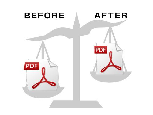 圧縮できないPDFのファイルサイズを小さくする方法