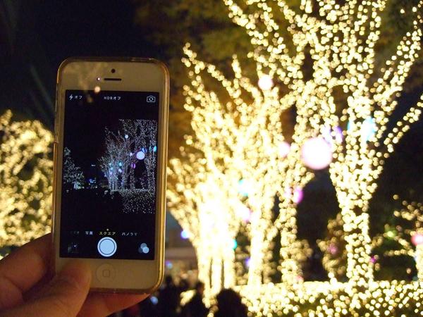 iPhoneでもイルミネーションをキレイに撮れる!AE/AFロックの活用法