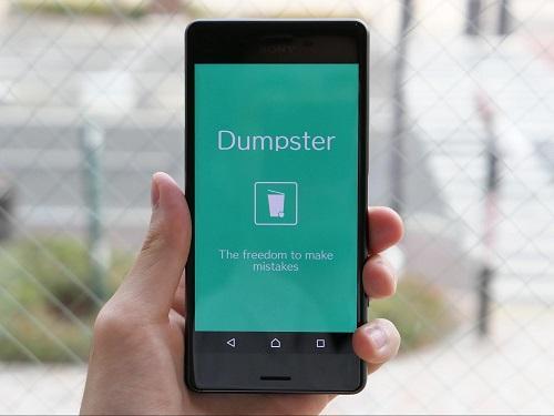 あ、消しちゃった!にも対応できるゴミ箱アプリ「Dumpster」