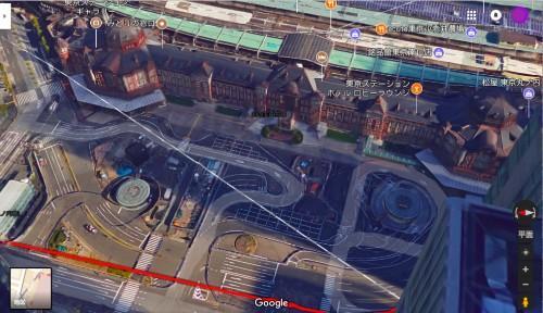 東京駅がまるでジオラマ! Google マップ(PC版)の3Dモードの立体感がとてつもない。