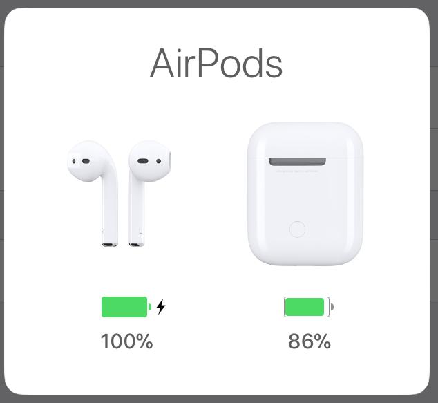 AirPodsのバッテリー残量を、スワイプひとつで確認する裏ワザ