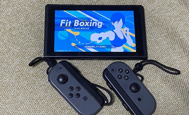 Nintendo Switch の「Fit Boxing」画面