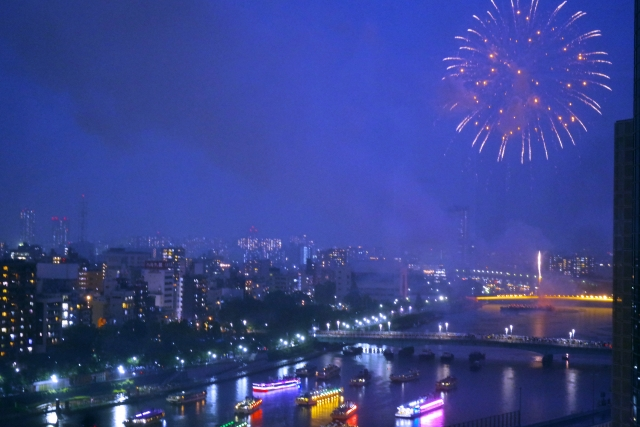 川辺の花火大会イメージ