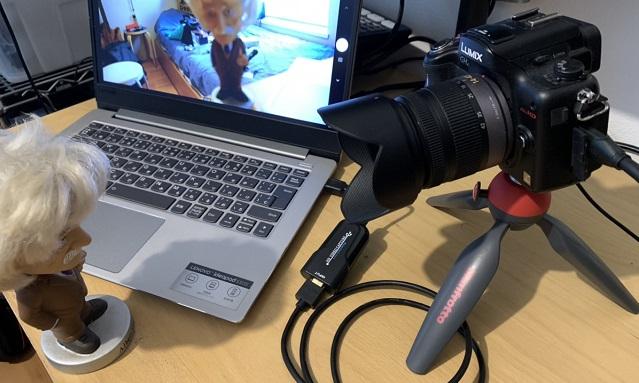 Web会議のカメラ映りをアップするビデオキャプチャーカード